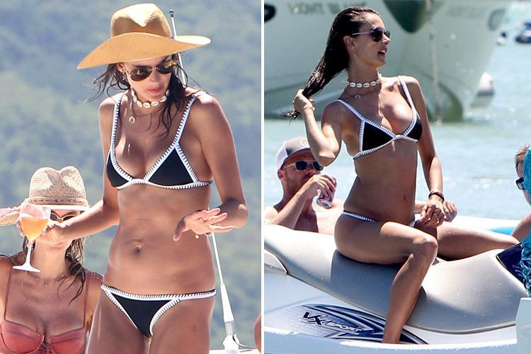 Victoria's Secret model Alessandra Ambrosio parties with pals on luxury boat trip in Brazil