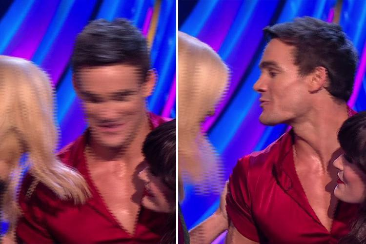 Holly Willoughby and Max Evans' 'awkward kiss' mocked by Dancing on Ice viewers