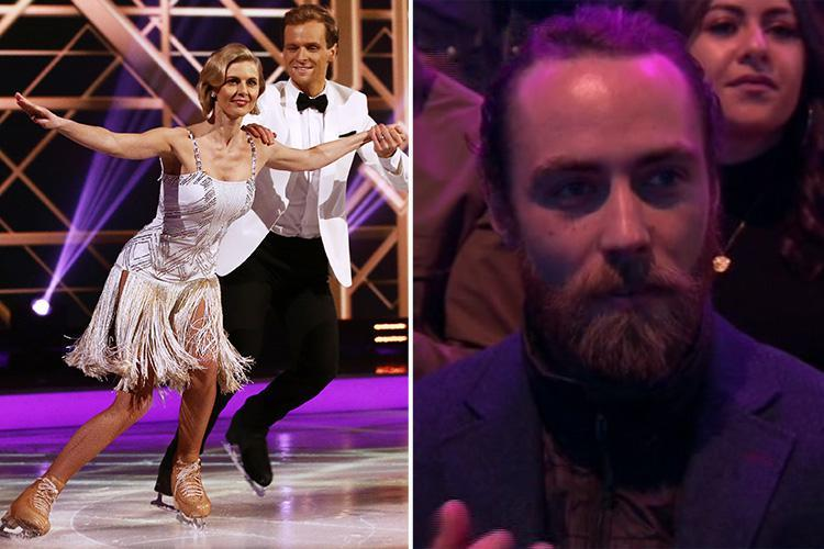 James Middleton makes surprise appearance on Dancing On Ice to support on/off girlfriend Donna Air