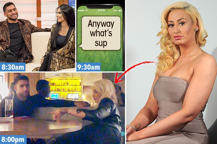 Amir Khan sets up hotel romp with model just an HOUR after boasting he was a family man on GMB