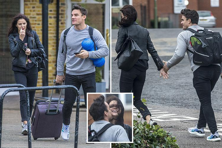 Dancing On Ice's Max Evans spotted kissing his girlfriend Lauren Jamieson outside hotel where his former fling Stephanie Waring is also staying