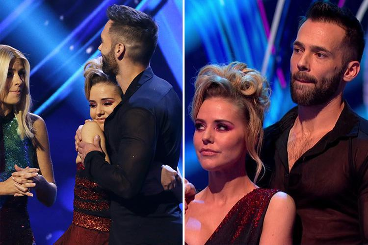 Stephanie Waring bursts into tears as she becomes second celebrity to leave Dancing on Ice after tense skate off with Lemar