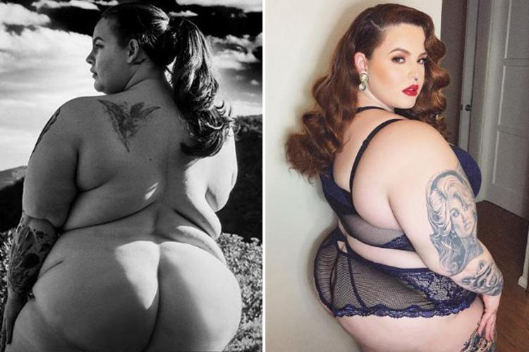 Tess Holliday poses completely naked for husband Nick as he insists women need respect at all times