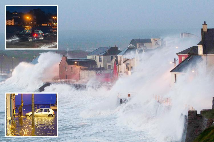 Storm Eleanor hits with 97mph winds and flooding as forecasters warn of 'danger to life' from flying debris