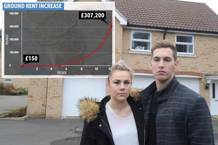 Newlyweds unable to sell home due to legal catch that sees ground rent DOUBLE every decade
