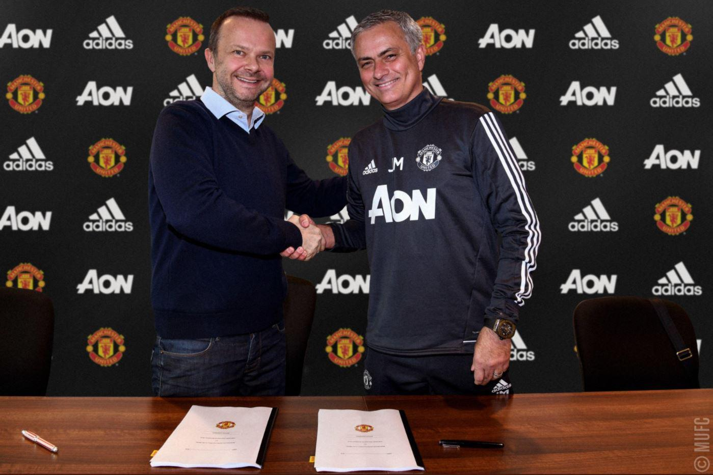 Jose Mourinho signs new Manchester United contract to remain at Old Trafford until 2020 to end speculation over his future