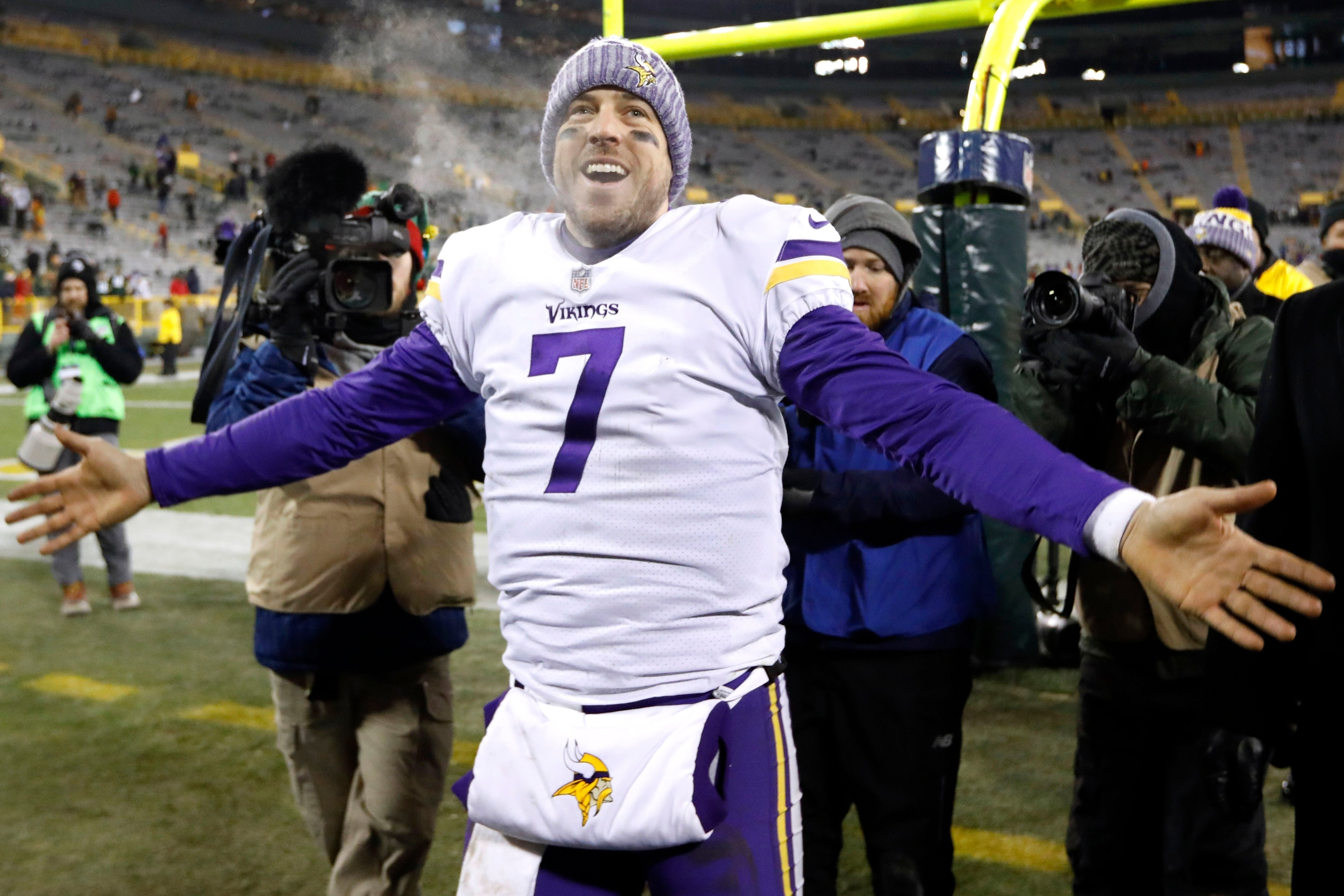 "Case Keenum ""excited nervous' for first career playoff start"