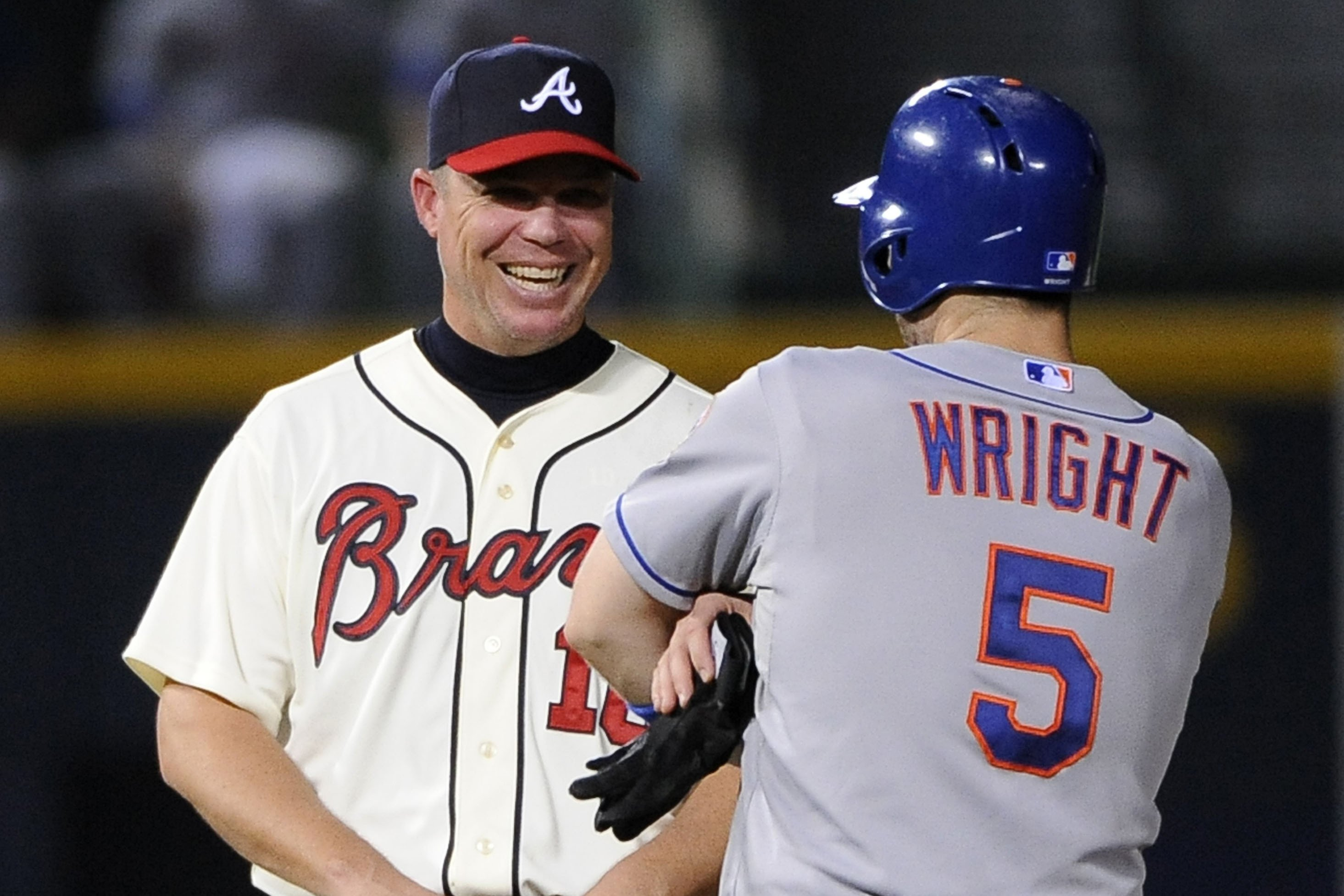 Chipper Jones wishes David Wright could be standing next to him