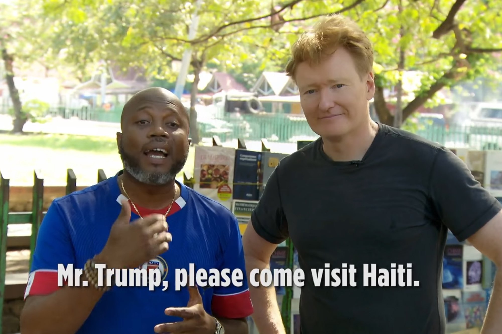 Conan: Haitians roast Trump in clip from O'Brien's trip