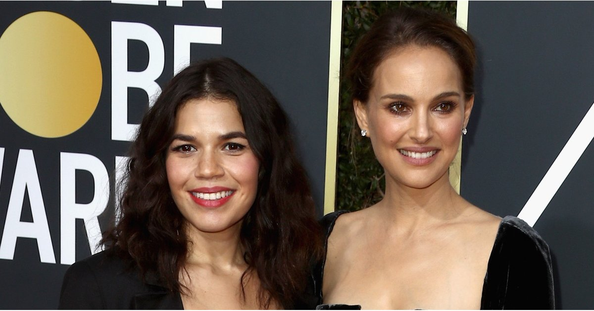 You Can Just Make Out America Ferrera's Baby Bump in Her Sparkly Black Dress