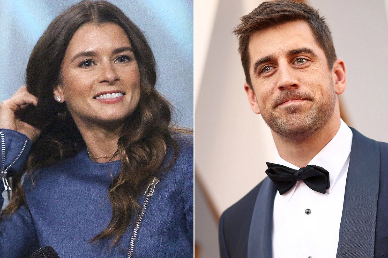 Danica Patrick can only smile about Aaron Rodgers romance rumors
