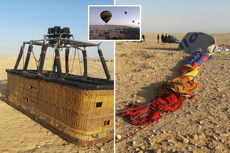 Egypt hot air balloon horror leaves one dead and 12 injured after it crashes near Luxor with 20 people on board