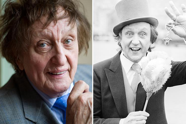 How old is Ken Dodd, what are his songs and catchphrases, where's his statue and who's his partner Anne Jones?