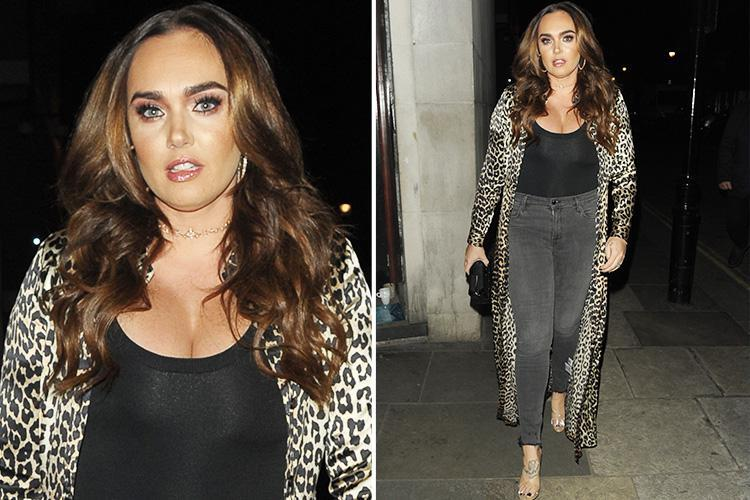 Tamara Ecclestone is a yummy mummy in a plunging black top as she spends some rare time apart from daughter Sophia
