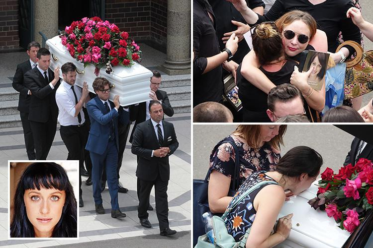 Home & Away star Jessica Falkholt's uncle pays tribute at her funeralafter dying three weeks on from horror crash that killed her parents and sister