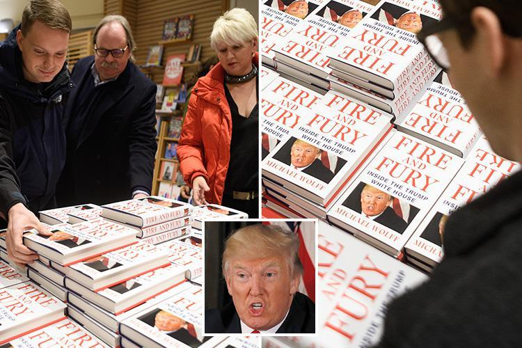 Buyers rush to get hands on bombshell Donald Trump expose Fire and Fury as it arrives in Britain