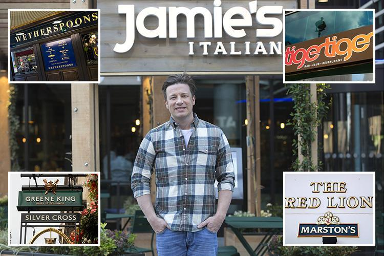 Jamie Oliver restaurants among popular chains embroiled in 'one of the biggest food scandals since horsemeat' after Wetherspoon steak recall alert