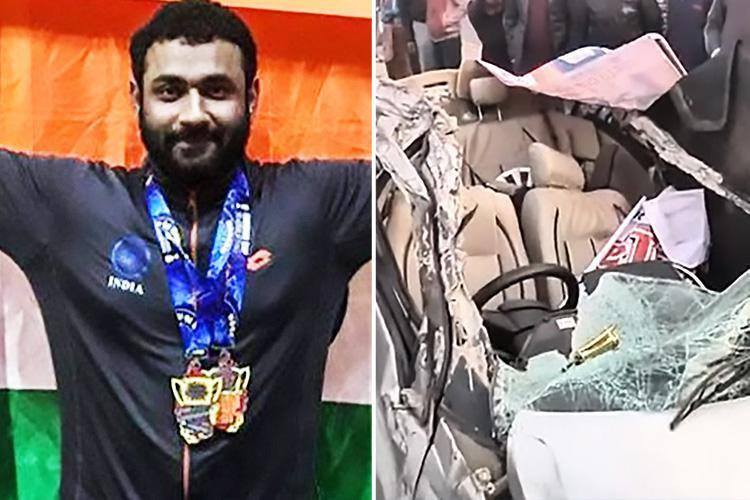 World powerlifting champion among five weightlifters killed in horror crash when car smashes into electricity pole