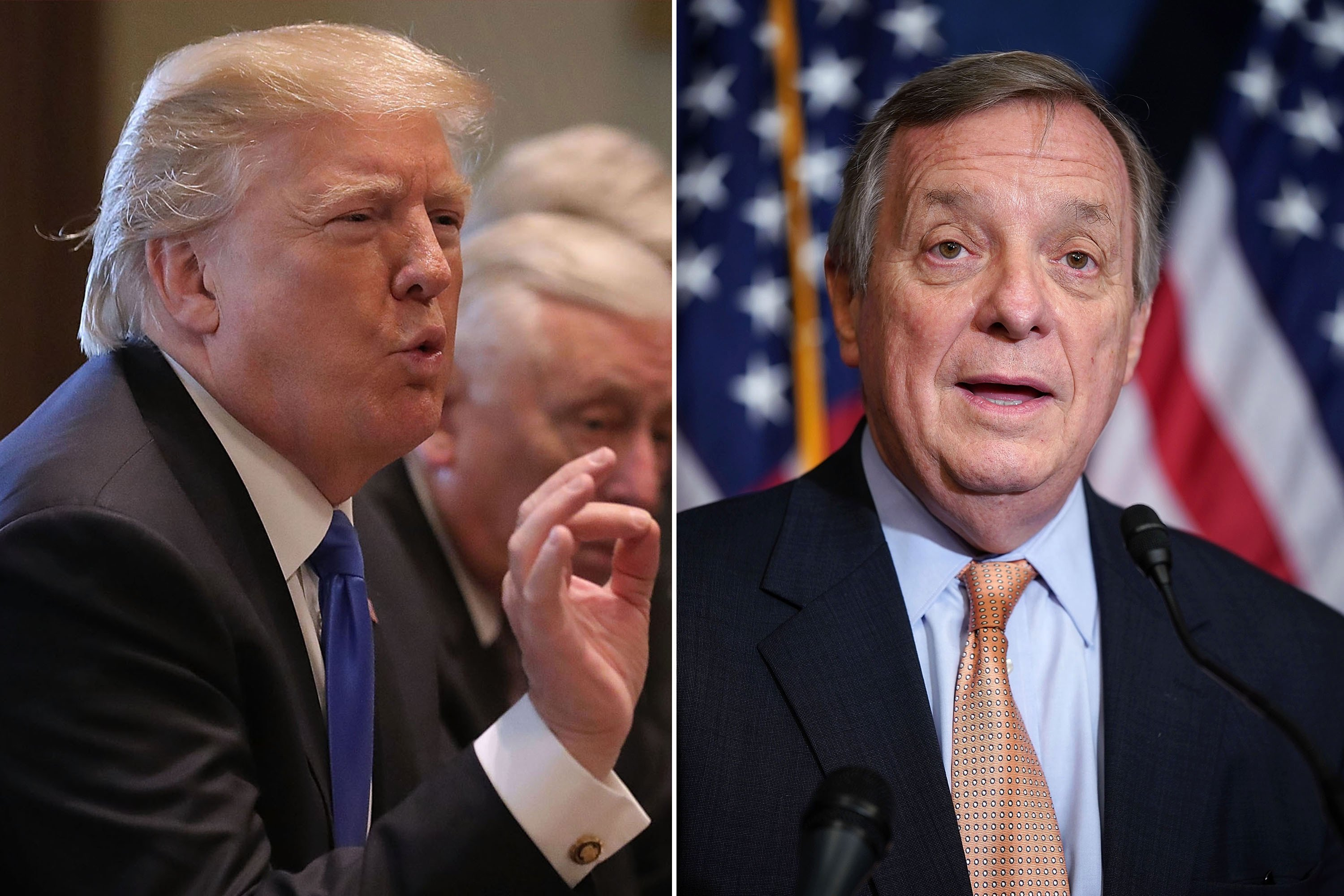 Trump blasts Senator Durbin over 'shithole countries' claims