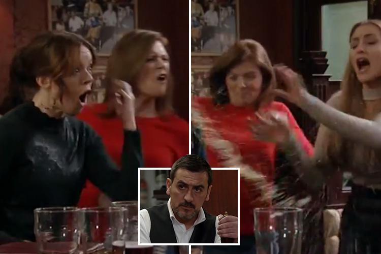 Coronation Street fans in hysterics over Carla Connor and Michelle Connor in furious brawl with Toyah and Leanne Battersby