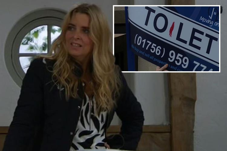 Emmerdale fans in hysterics as Charity Dingle POOS in Joseph Tate's living room as she helps Debbie exact her revenge