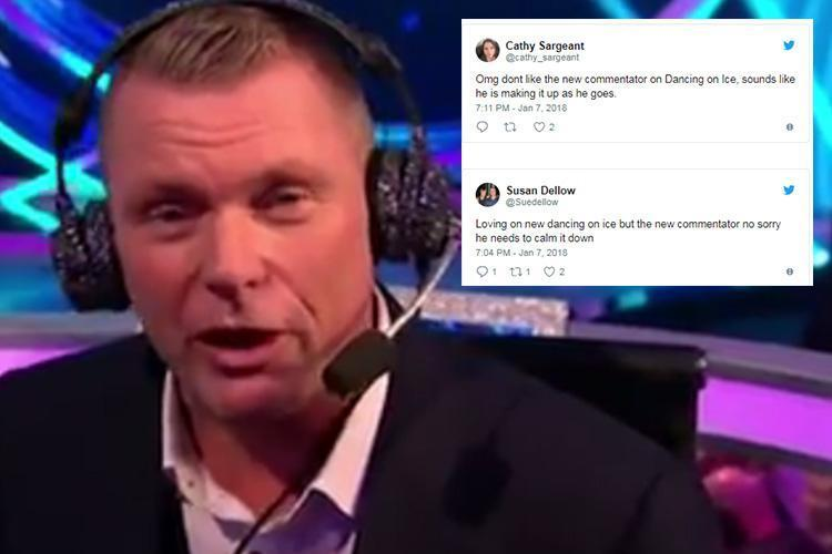 Dancing on ice viewers left cold by new commentator Matt Chapman on show's return
