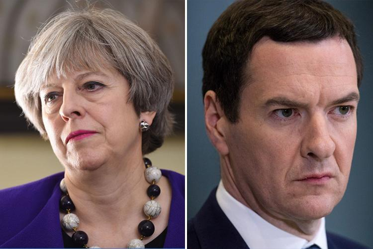 Theresa May snubs arch-enemy George Osborne by refusing to offer him a Lords peerage