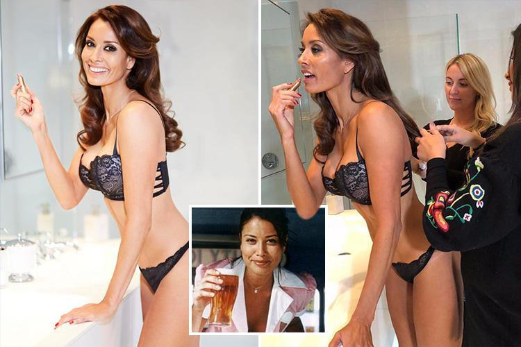 Former Boddingtons babe Melanie Sykes gets all lippy in sexy shoot as she joins talkRADIO with Jamie East