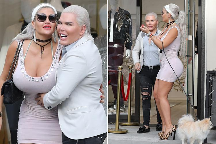 Human Ken Doll Rodrigo Alves hangs out with German reality girl with 70K boobs