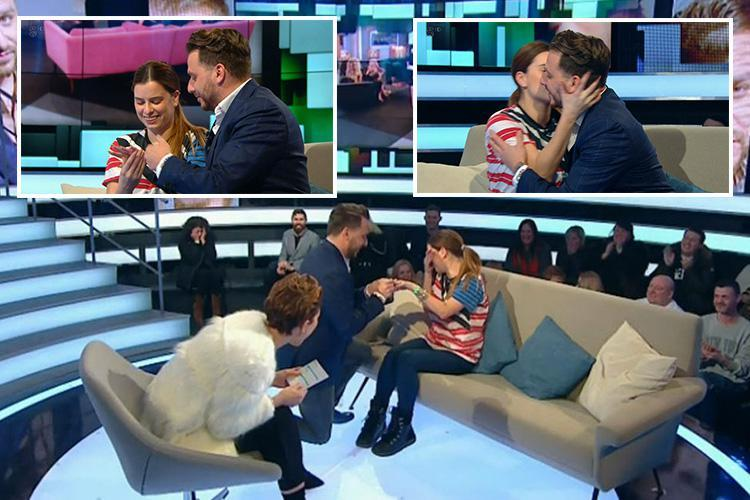 Daniel O'Reilly proposes to girlfriend Shelley Rae live on CBB