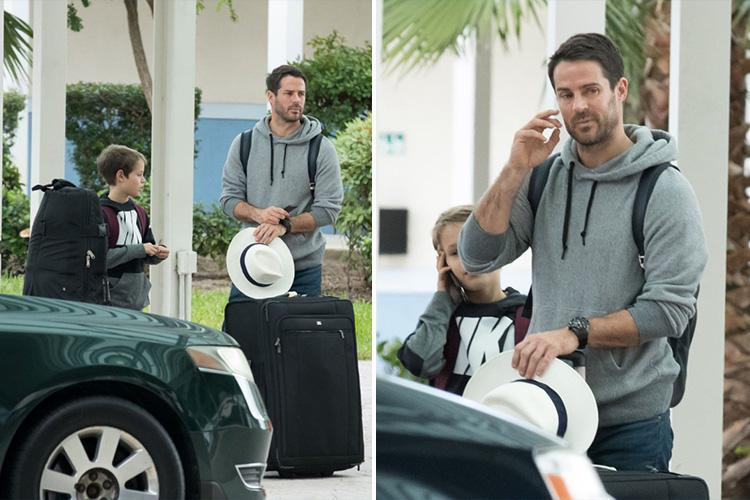 Jamie Redknapp ditches his wedding ring as he arrives in Barbados with his sons following divorce from wife Louise