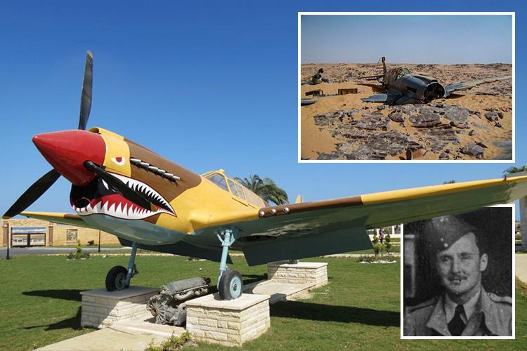 Family's fury as 'lost' World War 2 Kittyhawk is given 'hideous' shark's teeth makeover and displayed in Egypt museum with NO mention of Brit hero flyer