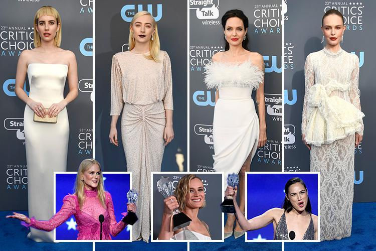 Gal Gadot, Nicole Kidman and Elisabeth Moss win big as women rule at Critics' Choice Awards in pale gowns after Golden Globes protest