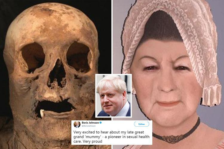 Boris Johnson says he's 'very proud' he's descended from mummified Swiss woman who died from syphilis as he hails 'sexual health pioneer'