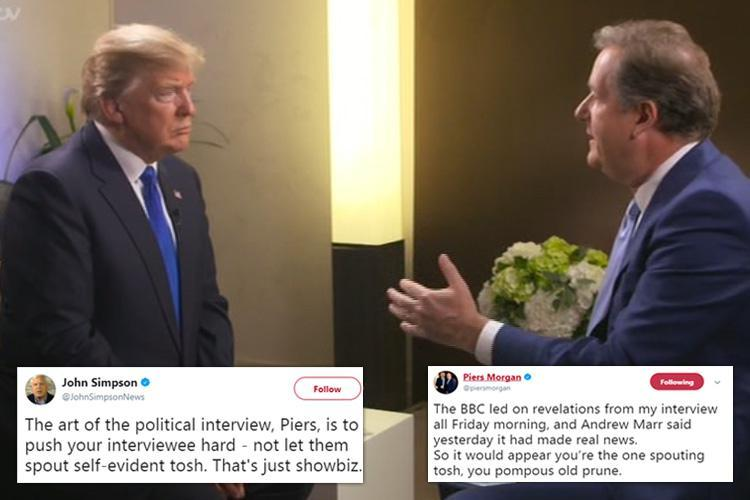 Piers Morgan slams 'hateful' critics and tears into the BBC's John Simpson after he panned Donald Trump interview