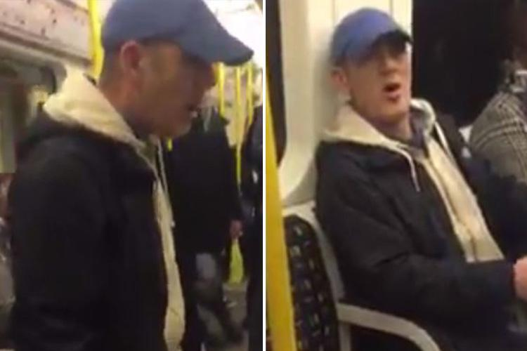 London Tube passenger launches into sickening foul-mouthed racist rant on packed train