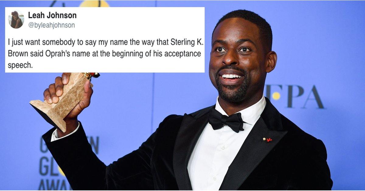 After Sterling K. Brown's Moving Golden Globes Speech, People Want Him to Win Every Award