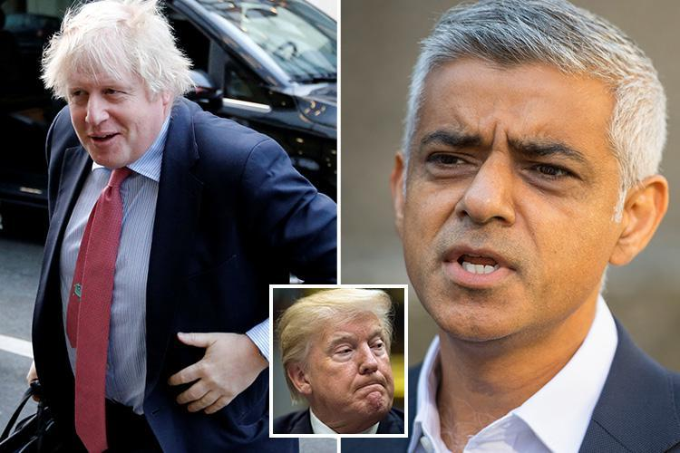 Boris Johnson attacks Sadiq Khan for celebrating Donald Trump's cancelled UK visit calling London's Mayor a 'puffed-up pompous popinjay'