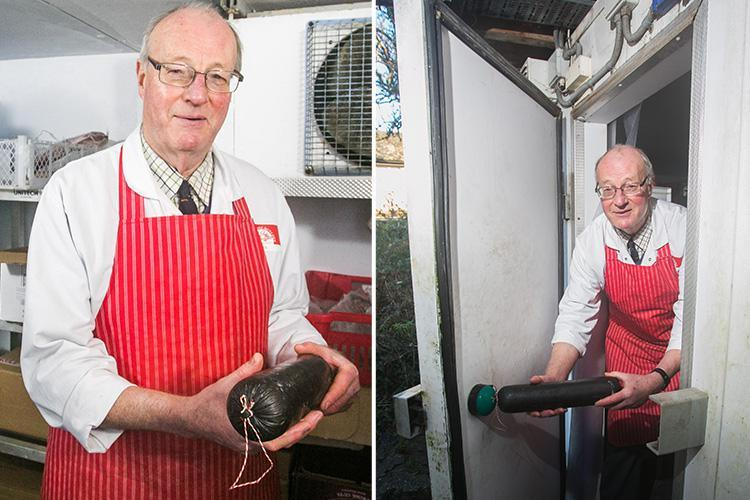 Butcher minutes from death after getting stuck in a freezer fought his way out with a BLACK PUDDING