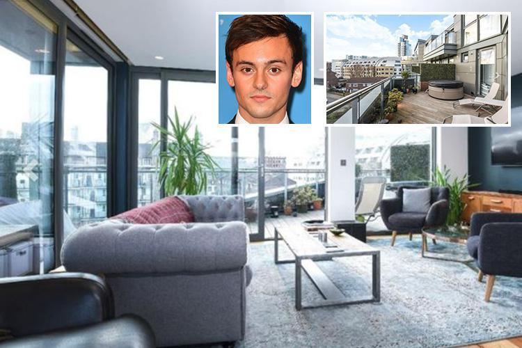 Tom Daley reveals he's selling his £1.1m two bed London flat with a HOT TUB on the balcony