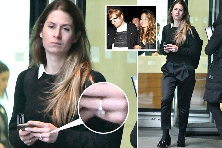 Ed Sheeran's fiancee Cherryl Seaborn flashes her new engagement ring on day out in London