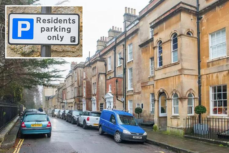 Mystery local puts up their own FAKE parking signs to stop drivers leaving their cars on street