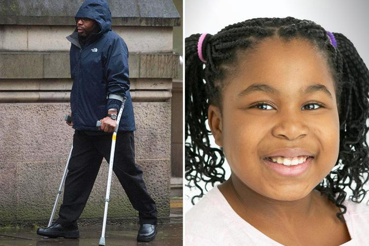 Dad's fury as he is jailed for killing daughter, 9, after he drove 'like a lunatic' to get to her maths lesson