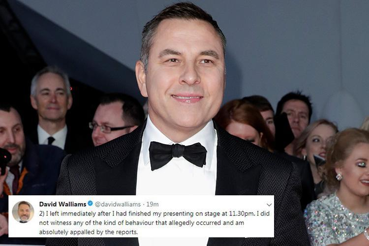 David Walliams had hosted scandal-hit Presidents Club dinner twice before as comedian says he's 'appalled' at reports of sexual harassment