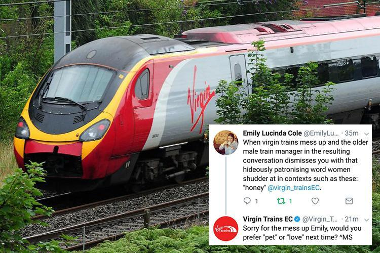 Virgin Trains slammed for mocking woman on Twitter after she complained about being called 'honey' by staff