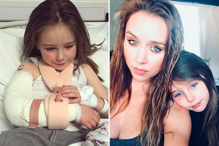 Una Healy's five year old daughter rushed to hospital after 'freak accident' that left her with a chipped elbow