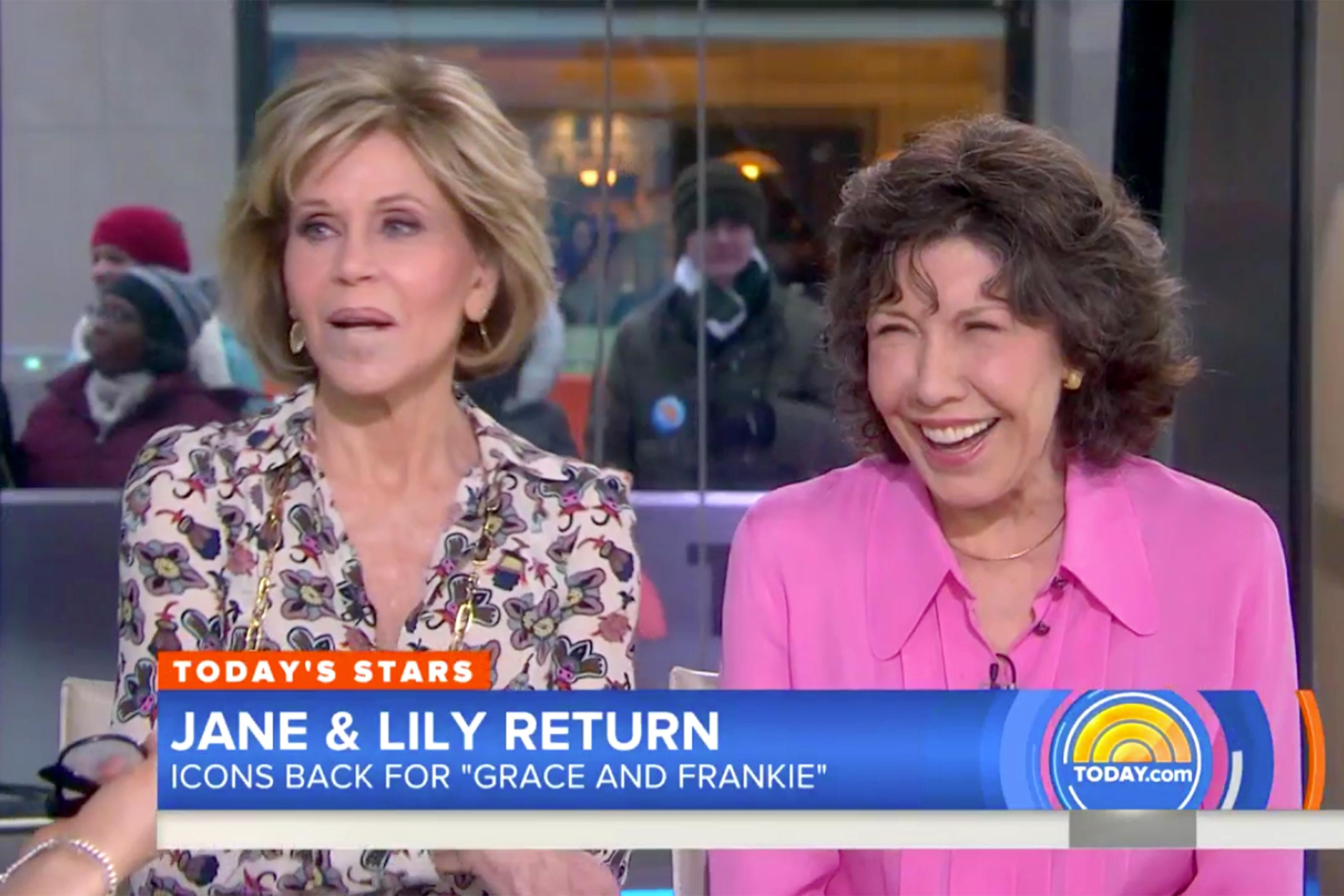 Jane Fonda pokes fun at Megyn Kelly after Lily Tomlin facelift joke