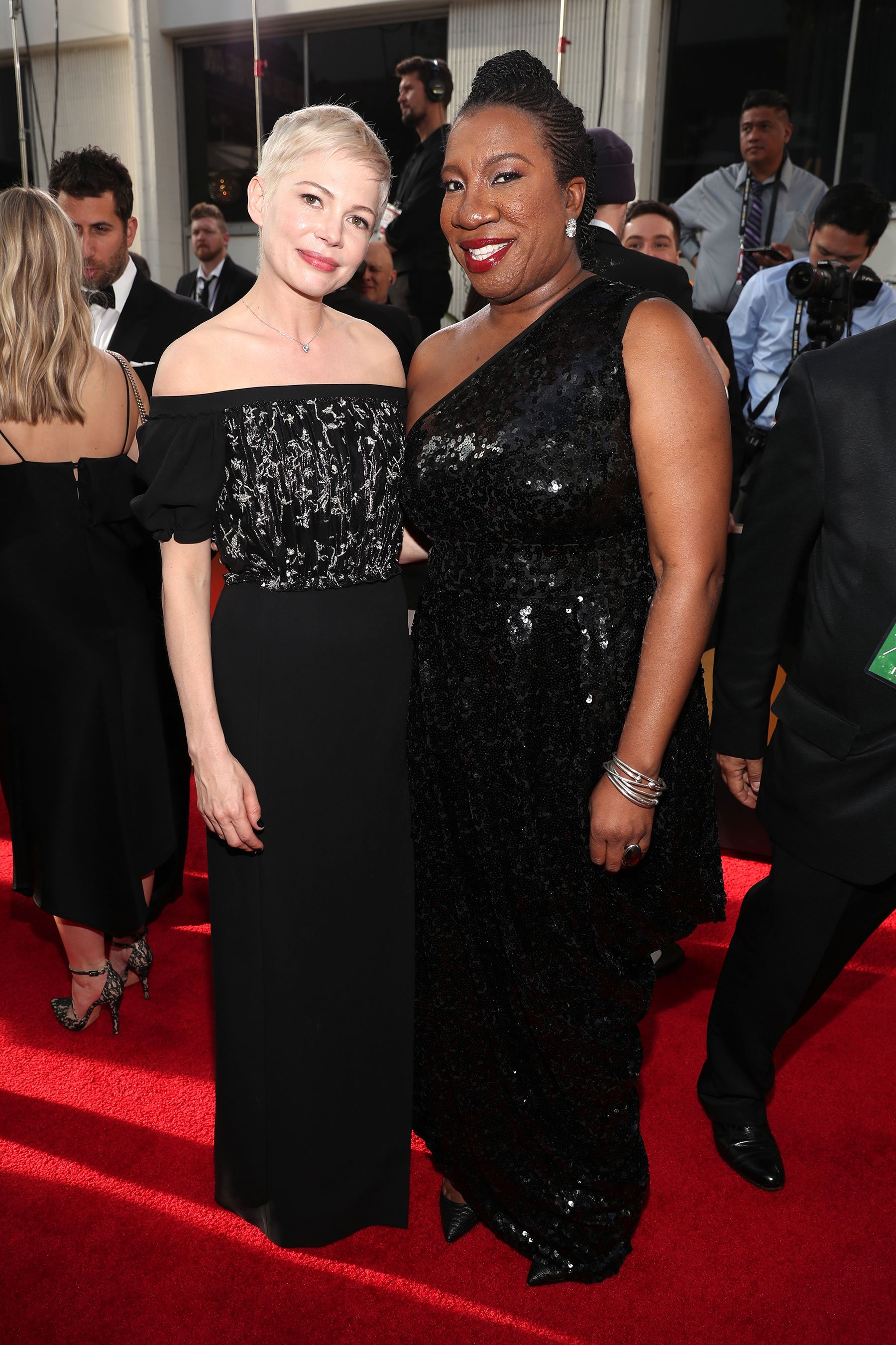 Golden Globes: Michelle Williams spotlights #MeToo founder Tarana Burke during red carpet interview