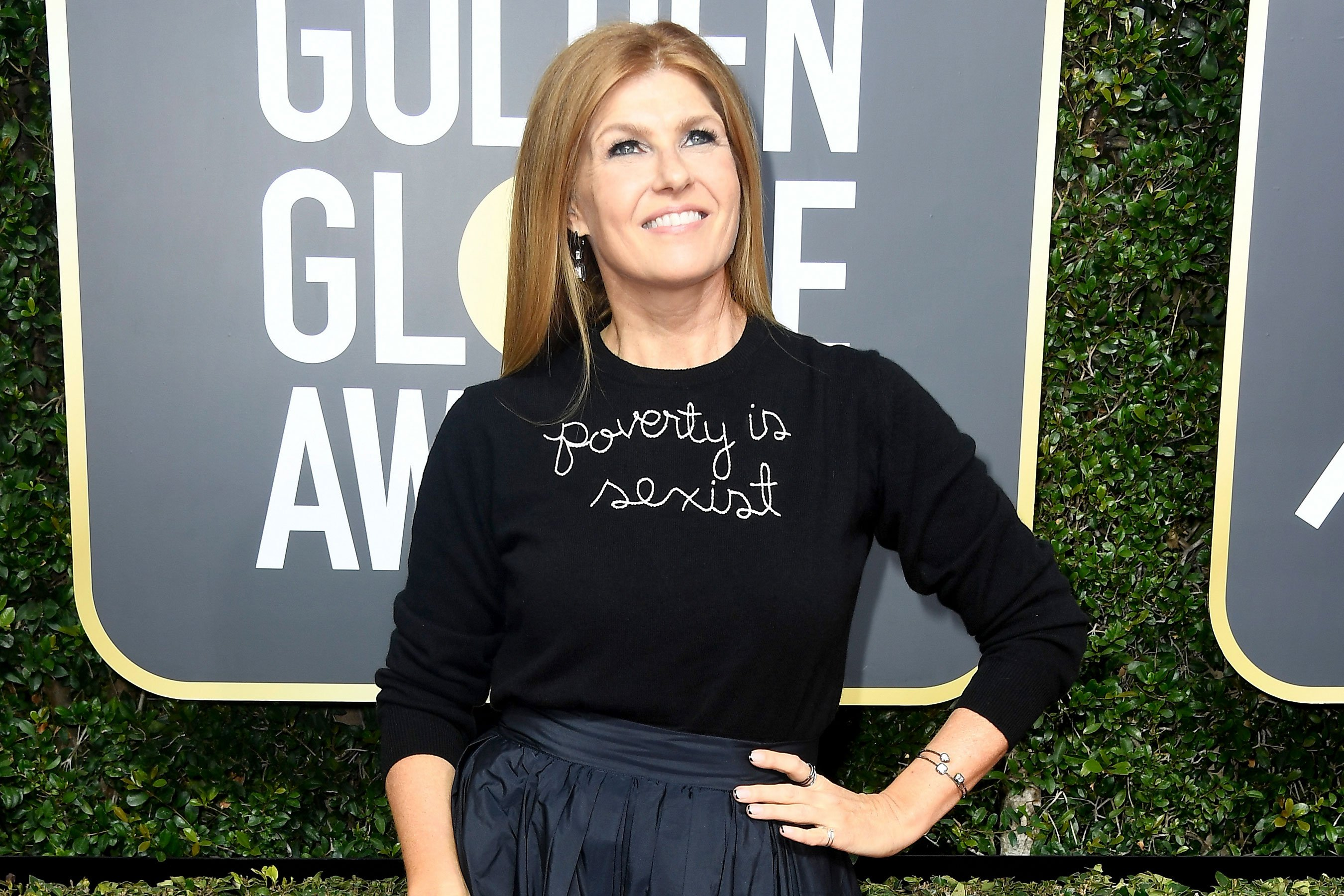 Connie Britton defends 'poverty is sexist' sweater