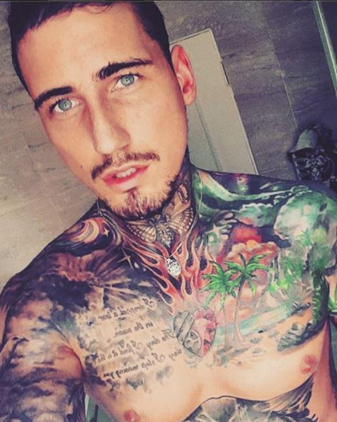 Jeremy McConnell has got a skull tattoo that covers his entire head